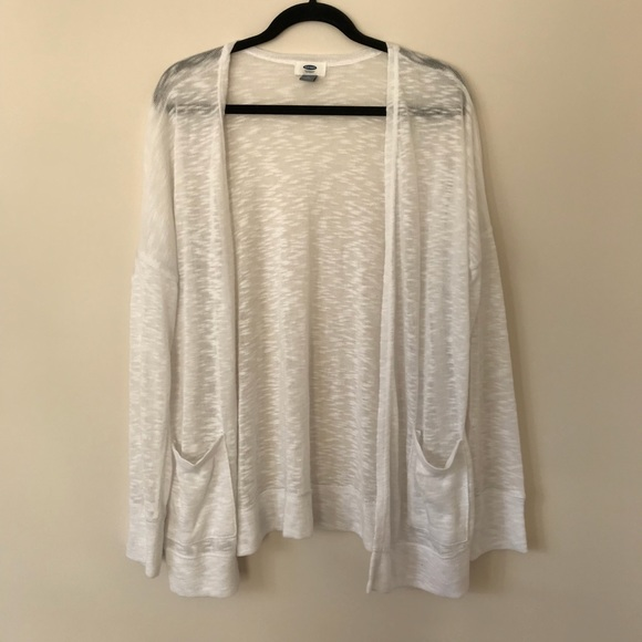71% off Old Navy Sweaters - SHEER WHITE CARDIGAN from ! morgan's ...